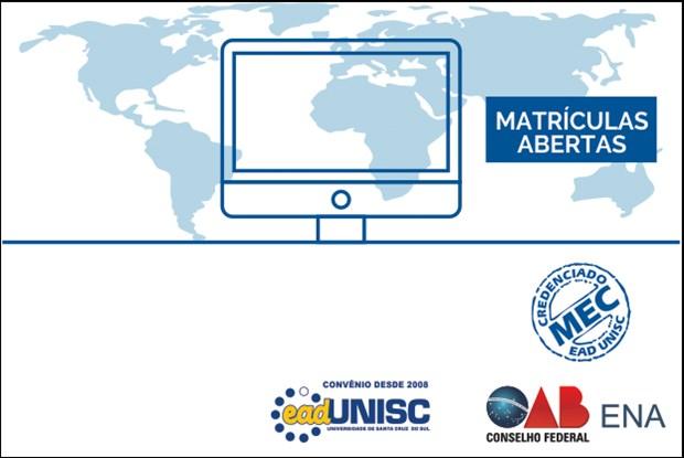 Estão abertas as matrículas para a pós-graduação do convênio CFOAB/ENA e Unisc