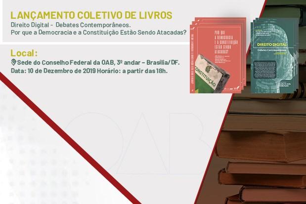 Livros discutem direito digital e ataques à Constituição