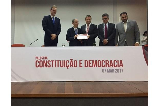 OAB recebe Jorge Miranda, um dos constitucionalistas mais importantes do mundo