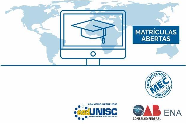 ENA e Unisc oferecem cursos de pós-graduação a distância com início em 2018